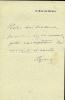 1856 - 1920. Actrice française.  Lettre autographe signée.. RÉJANE Gabrielle Réju, dite