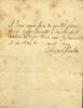 1688 - 1746. Homme de guerre et diplomate, tué à la bataille de Raucoux.  Lettre autographe signée.. SALIGNAC-FÉNELON