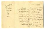 1836 - 1936. femme de lettres, elle tint un salon célèbre, haut lieu de l'antidreyfusisme. Lettre autographe signée datée 10 août 1918.. ADAM Juliette