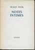 Notes intimes. NOEL Marie