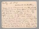 1 carte postale A.S. Nantes 23 décembre 1917 à Ladoué;- 1 carte A.S. Neuilly 26 décembre 1910 au directeur d'une revue.. PAYSANT Achille