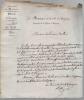 Lettre autographe signée.. ROQUE DE SAINT-PRÉGNAN Hippolyte