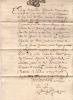 Lettre exécutoire avec assignation donnée à témoins pour déposer à l'instance de M. Gilles de Laudun contre messire Henry de Brancas.. GEVAUDAN Henry ...