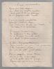 Manuscrit autographe signé.. BOUVET Henri