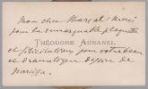 Carte autographe signée. AUBANEL Théodore