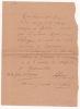 Lettre autographe signée. ARNAVIELLE Albert