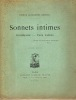 Sonnets intimes. Rondeaux - Vers Latins. BIBESCO Prince Alexandre