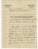 Lettre signée. FAIPOULT Guillaume Charles (1752-1817)