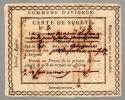 Carte de sureté.