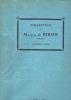 Catalogue des dessins pastels, peintures et sculptures principalement de l'école française de XVIIIè siècle …. Collection du Marquis de Biron. ...