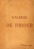 Catalogue des tableaux anciens … composant la galerie de feu M. A. de Ridder. Galerie DE RIDDER
