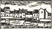 Trois Journées de la Tribu. Avec quatre lithographies et dix gravures sur bois par M. de Vlaminck. . DUHAMEL (Georges).