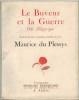 Le Buveur et la guerre. Ode allégorique. Suivie d'autres poémes inédits.. DU PLESSYS (Maurice).