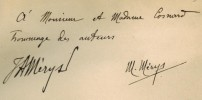 Premiers vers. Dessins de Ed. Henry Baudot. . MERYS (Jacques-André et Michel).