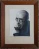 Portrait par Philippe Halsmann ( 24X18cm hors cadre). . GIDE (André).