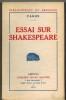 Essai sur Shakespeare. . FAGUS.
