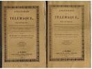 Aventures de Télémaque. Edition établie sur le manuscrit original et sur deux copies auxquelles l'auteur a fait plus de 700 corrections et additions. ...