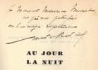 Au jour la nuit. Avec un portrait de l'auteur par Christian Bérard. . RAVAL (Marcel).
