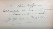 Quelques lettres curieuses et inédites présentées par J.-F. Merlet.. LORRAIN (Jean).