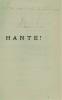 Hanté! Roman de l'au-delà. Couverture d'Henri Bischoff.. LUCIEN-GRAUX (Dr).
