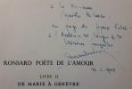 Ronsard poète de l'amour.. DESONAY (Fernand).