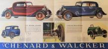 """""""L'Aiglon 1934"""". Genevilliers, Chenard & Walcker.. AUTOMOBILE."""