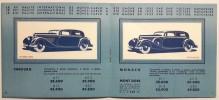 Tarif des voitures Hotchkiss. Premier au rallye international de Monte- Carlo en 1932, 1933, 1934. . AUTOMOBILE.