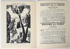 Editions du Sablier. 1929. . CATALOGUE.