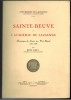 Sainte-Beuve à l'Académie de Lausanne. Chronique du Cours sur Port-Royal 1837-1838.. BRAY (René).