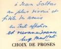 Choix de proses. Trois portraits par Raoul Dufy.. MONTFORT (Eugène).