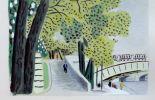 En Avril 1944: Paris respirait encore! Poème de Paul Eluard illustrant sept gouaches de Jean Hugo.. ELUARD (Paul).