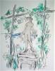 Sous le clair regard d'Athéné. Dessins et aquarelles de Pierre Laprade..  LAMANDE (André).