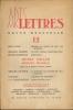 ARTS LETTRES N° 12.. COLLECTIF (Max Jacob - Graham Greene - Edith Boissonas - Henry Miller et Michael Frankle - Gérard de Sède - Caradec - J.-G. ...