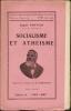 SOCIALISME ET ATHÉISME. . Eugène POTTIER.