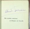 UNE AVENTURE AMOUREUSE DE MONSIEUR DE TOURVILLE. Vice-amiral et Maréchal de France. FARRÈRE Claude