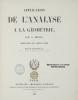 APPLICATION DE L'ANALYSE DE LA GEOMETRIE. MONGE G.