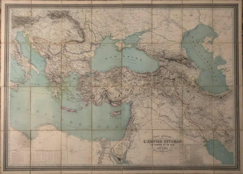 Carte générale de l'Empire Ottoman en Europe et en Asie. KIEPERT (Heinrich).