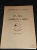 ETUDES CAMEROUNAISES;. OCTOBRE -DECEMBRE. n° 53-54.