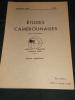 ETUDES CAMEROUNAISES. SEPTEMBRE. N°52.