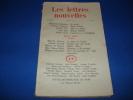 LES LETTRES NOUVELLES. N°26. AV. 1955. COLLECTIF / BARTHES Roland/ QUENEAU Raymond / LIMBOUR Georges / PAZ Octavio / SELZ Jean / VIREL André/ MUSIL ...