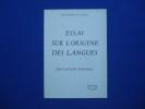 Essai sur l'origine des Langues. Rousseau  Jean-Jacques
