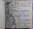LA MÉTROMANIE ou les dessous de la capitale. Calligraphié et orné de dessins par son ami Jean Dubuffet. PAULHAN, Jean - DUBUFFET, Jean