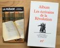 ALBUM LES ÉCRIVAINS DE LA RÉVOLUTION. GASCAR, Pierre.