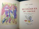 LES BUCOLIQUES DE VIRGILE. Lithographies originales en couleurs de Jacques Villon.. VALÉRY, Paul - VIRGILE