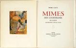 MIMES DES COURTISANES de Lucien. LOUYS, Pierre - Edgar DEGAS