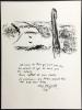 Mère et Enfant devant Notre-Dame. Lithographie originale pour VISION DE PARIS. VERVE VOLUME VII. Nos 27-28. 1952.. CHAGALL, Marc