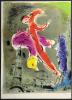 La Tour Eiffel. Lithographie originale pour VISION DE PARIS. VERVE VOLUME VII. Nos 27-28. 1952. . CHAGALL, Marc