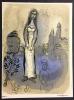 ESTHER. Lithographie originale pour DESSINS POUR LA BIBLE. Verve. Vol.X, Nos 37/38. 1960.. CHAGALL, Marc