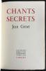CHANTS SECRETS. Le n° 1 de l'édition originale sur Pur Fil ! Dessin d' Émile Picq. GENET, Jean