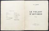 LE VOLANT D'ARTIMON. POÈMES. Exemplaire avec envoi (1922).. DERMÉE, Paul - MARCOUSSIS, Louis